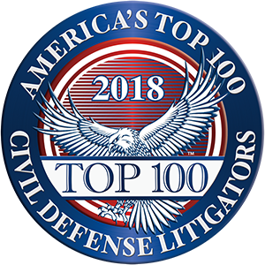 America's Top 100 Civil Defense Litigators 2018® Recipient Award